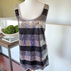 Lane Bryant 18/20 Striped Sequin Tank